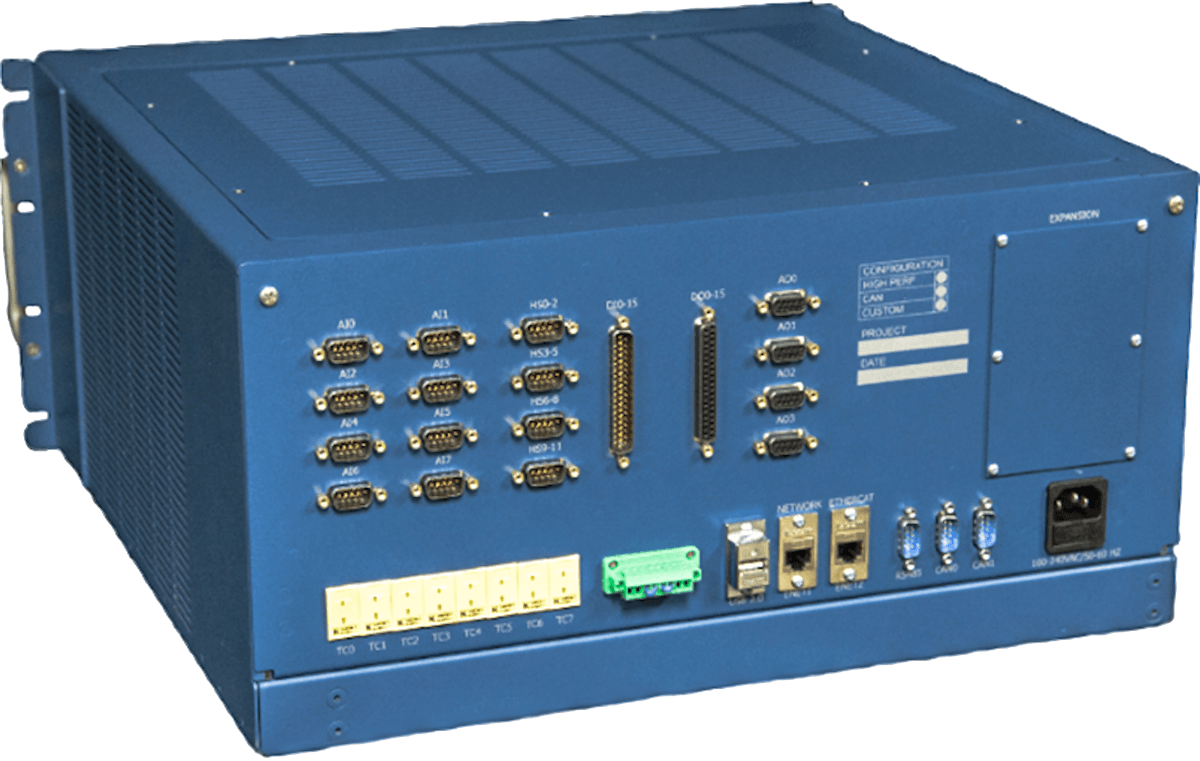 Back of the Rapid II test cell controller
