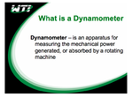 What is a dynamometer
